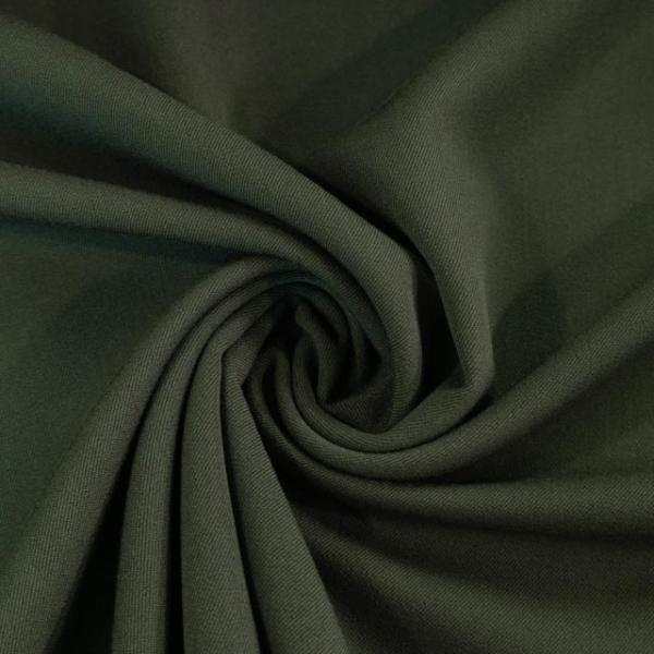 Twill Hosenstoff bi-elastisch Wool Touch khaki Öko Tex 100