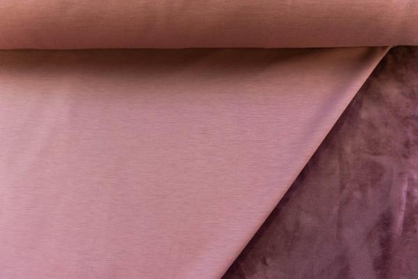 Alpenfleece Sweat Uni altrosa Ökotex 100 - ohne Polyester -