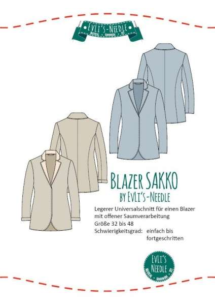 "Ebook Blazer ""SAKKO"" by EvLi's-Needle"