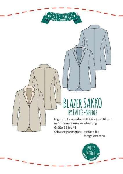 "Papierschnitt Damenblazer ""SAKKO"" by EvLis-Needle"