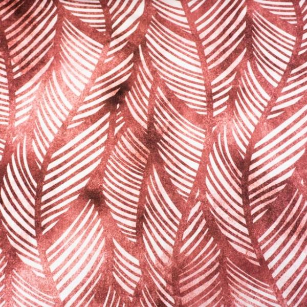 Bio-Baumwolljersey Wavey Leaves Watercolor altrosa