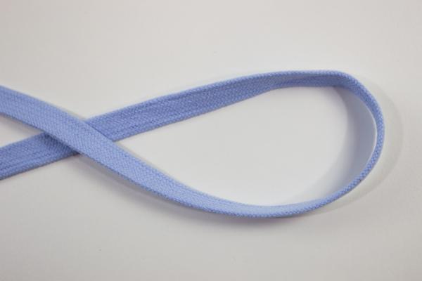 14mm Hoodie Kordel Flachkordel hellblau Baumwolle Ökotex 100