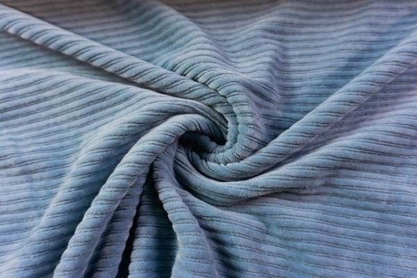 Jersey Breitcord Baumwolle jeansblau ÖkoTex 100