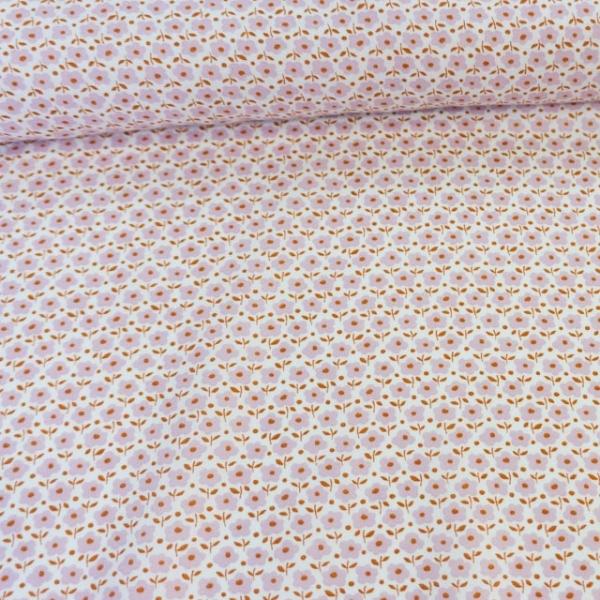 Baumwollwebware Italienische Kollektion Babyblumen altrosa Ökotex 100