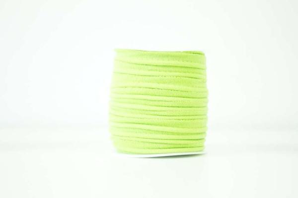 Jersey Paspelband hellgrün elastisch