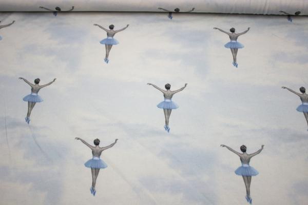 Ballerina digital Baumwolljersey Öko Tex 100