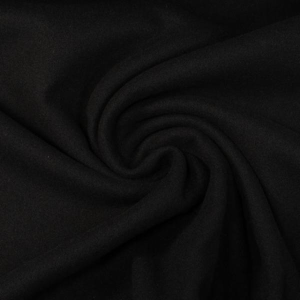 Mantelstoff Wool Touch schwarz