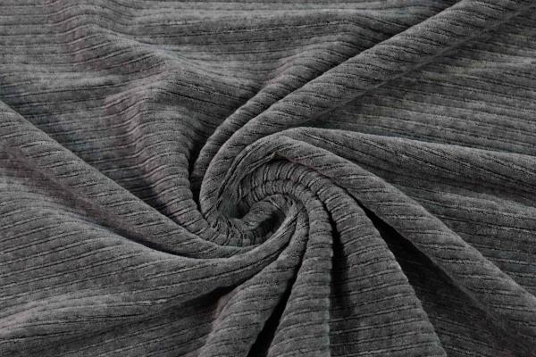 Jersey Breitcord Baumwolle grau ÖkoTex 100
