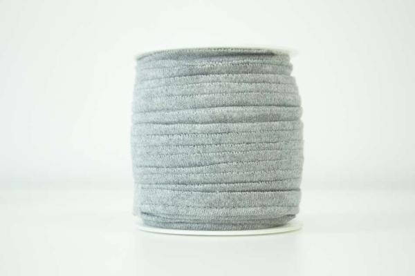Jersey Paspelband hellgrau meliert elastisch
