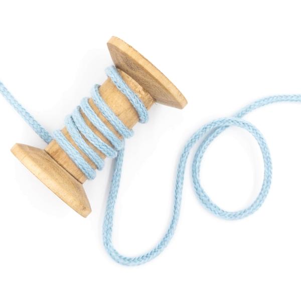 Kordel geflochten 4mm hellblau