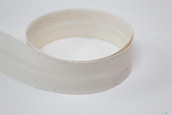 Schrägband 4cm breit vorgefalzt natur Ökotex 100