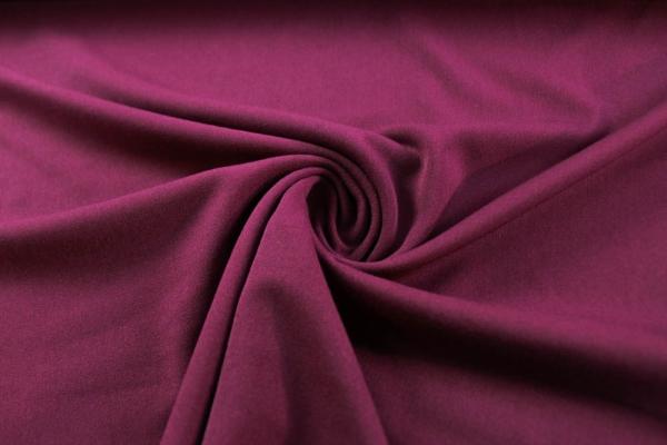Twill Hosenstoff bi-elastisch Wool Touch Uni bordeaux-beere Öko Tex 100