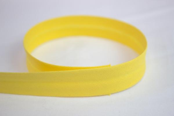 Schrägband vorgefalzt gelb Ökotex 100