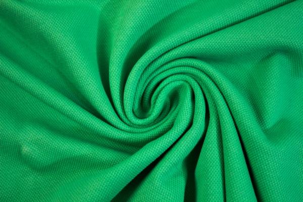 Poloshirt Baumwolljersey Uni grün Ökotex 100