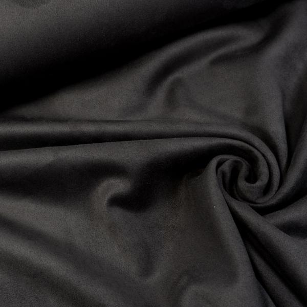 Velourlederjersey schwarz 280gr/m2