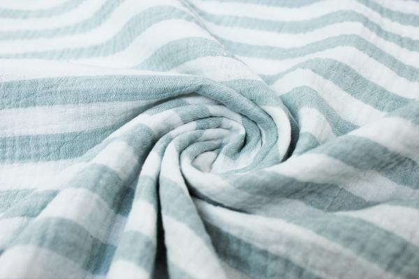 Musselin Double Gauze Stripes mint 100% Baumwolle Ökotex 100