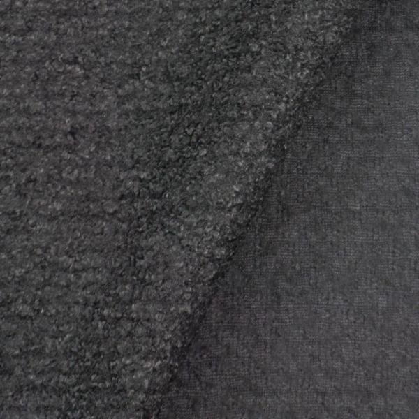 Woll Boucle Uni schwarz