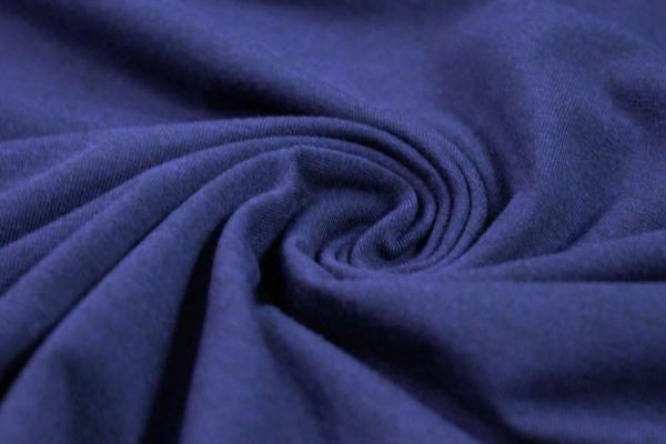 Baumwolljersey BLACKMELIERT blueberry dunkel Ökotex 100