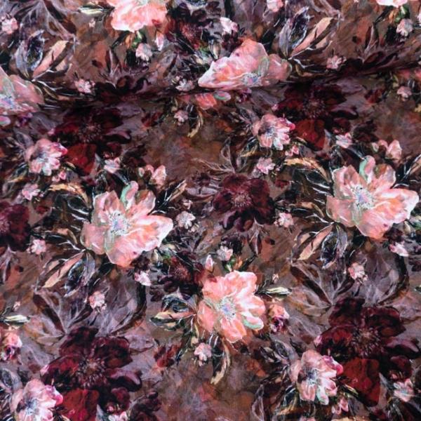 Sweat French Terry Darkflowers kupfer Ökotex 100