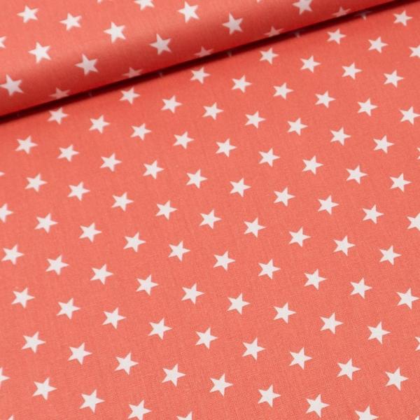 Baumwolle/Webware Stars korall Ökotex 100