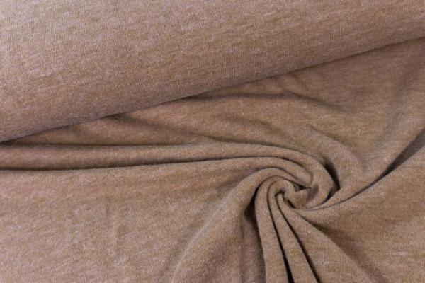 Strick-Jersey Angorastyle schlamm- super kuschelig Ökotex 100