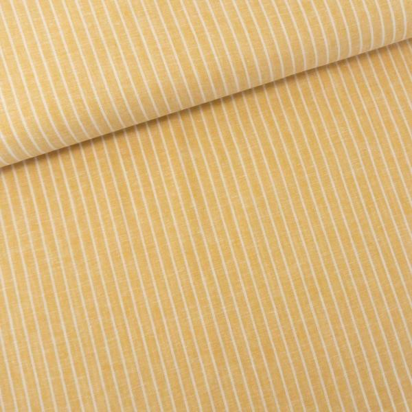 Leinen MELIERT Stripes senf