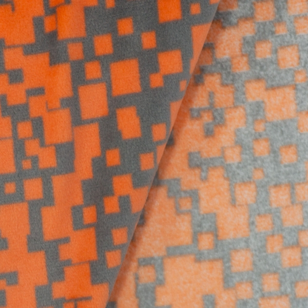 Velvet Fleece Viereck Neon orange