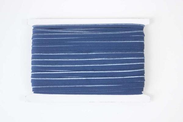 Elastisches Paspelband blau
