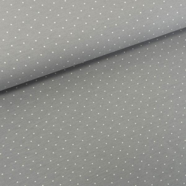Baumwolljersey Small Dots hellgrau