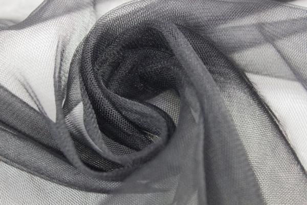 Softtüll Schleiertüll schwarz Ökotex 100