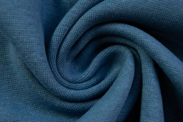 Bündchen Feinstrick Uni jeansblau -hohe Sprungkraft- Ökotex 100