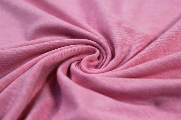 Organic Baumwolljersey MELIERT rosa Ökotex 100