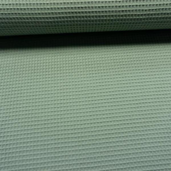 Waffelpiqué dusty mint