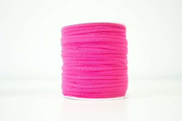 Jersey Paspelband pink elastisch