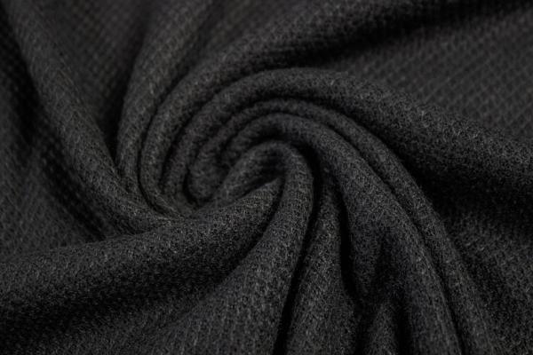 Polo Piqué Strick-Jersey schwarz - Pashmina Style Ökotex 100