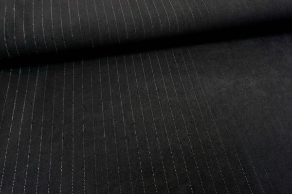 Fashionstoff Bengaline Nadelstreifen mit Lurex schwarz Öko Tex 100