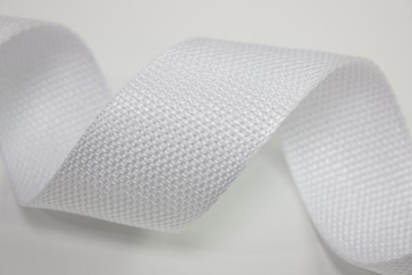 Gurtband 40mm weiß Polyester Ökotex 100