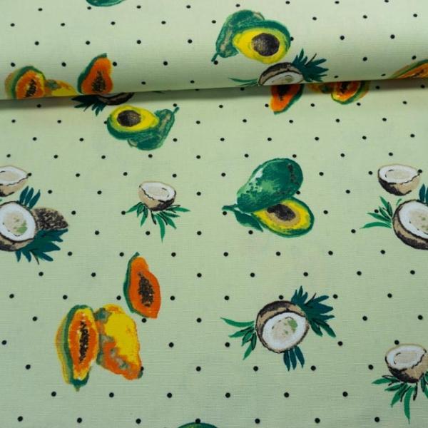 Canvas Exotic Fruits lindgrün