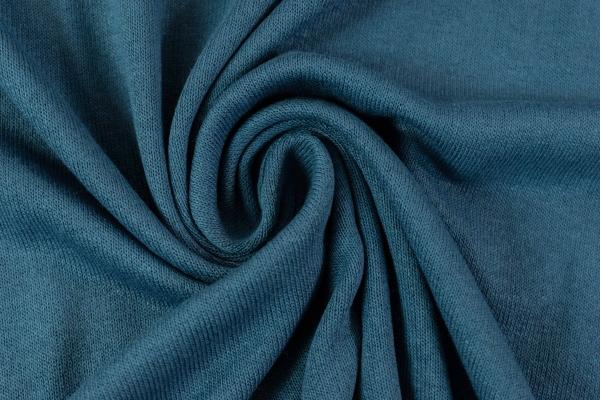 Feinstrick Jersey Deluxe jeansblau dunkel Ökotex 100