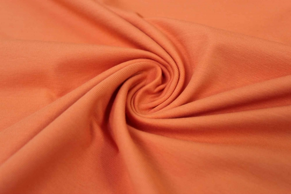Organic Baumwolljersey Uni orange Ökotex 100