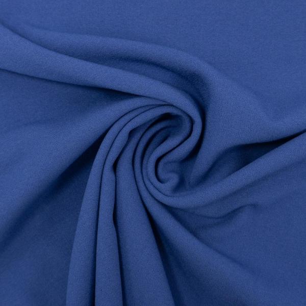 Viskose Krepp Uni blau