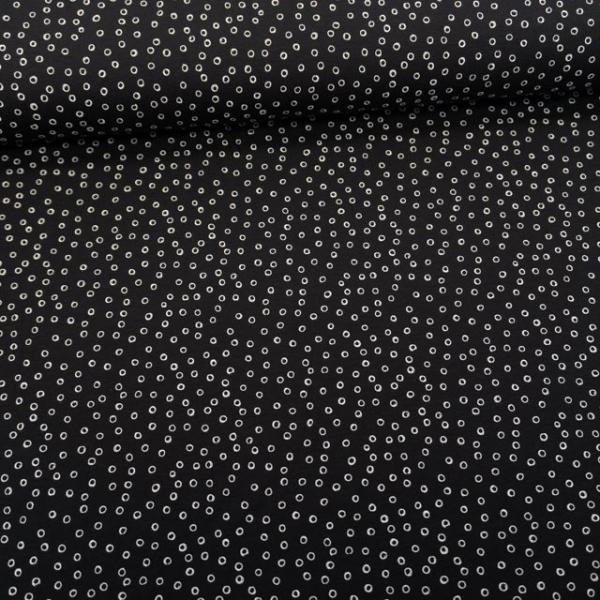 Baumwolljersey Mini Bubbles schwarz