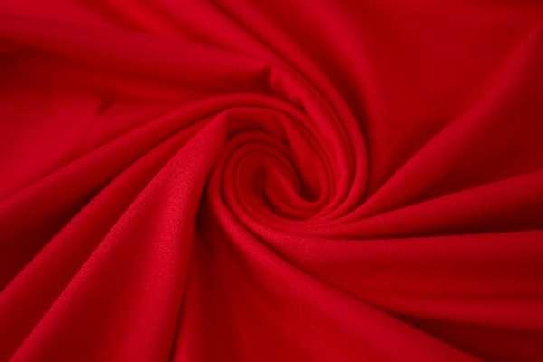 Bündchen Feinstrick Uni rot