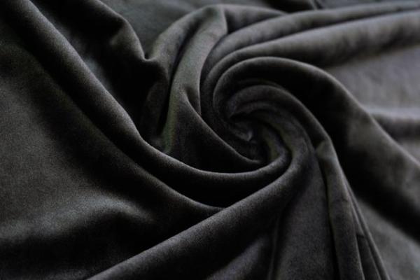 Velvet Samt-Sweat elastisch schwarz Ökotex 100
