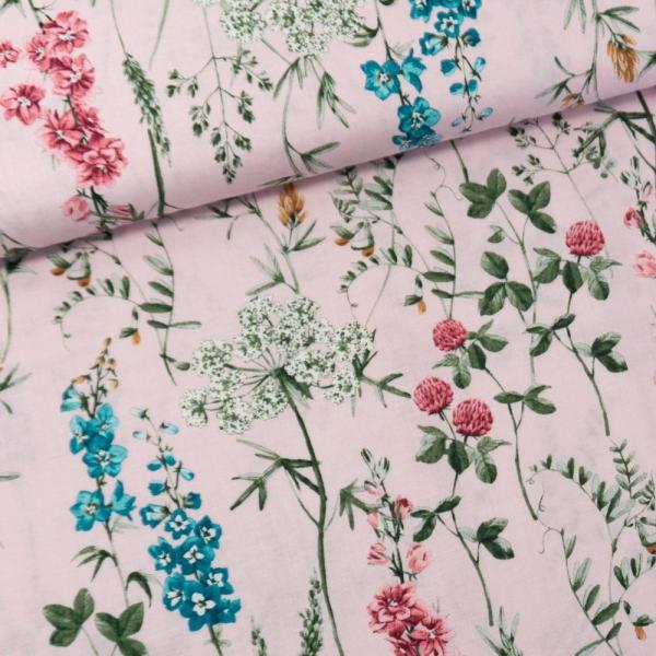 Gütermann Baumwollwebware Timeless Wildblumen rosa
