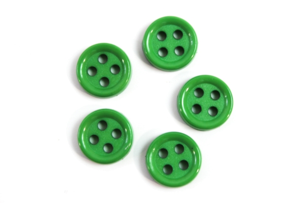 Hemd oder Blusenknopf 11 mm grün