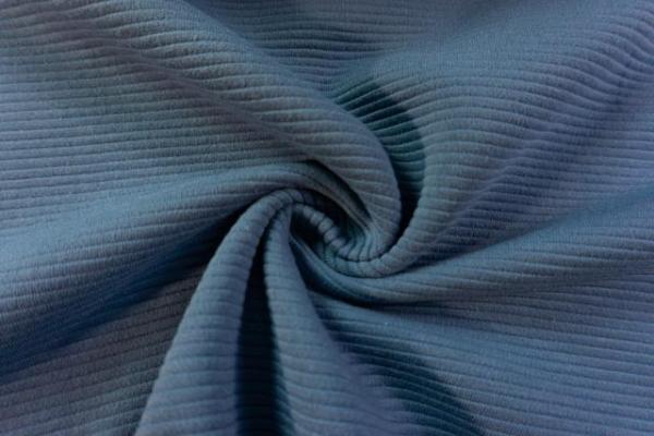 Baumwolljersey Stripe Knitted jeansblau Ökotex 100