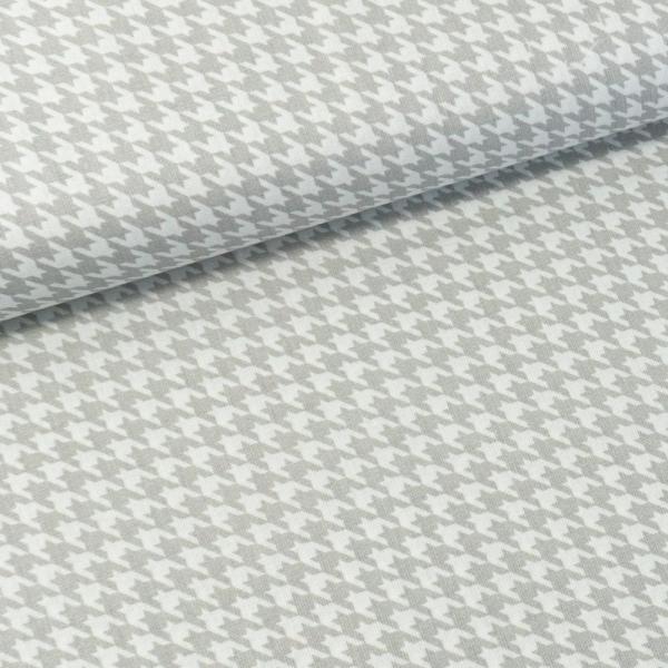 Baumwollwebware Italienische Kollektion Hahnentritt hellgrau