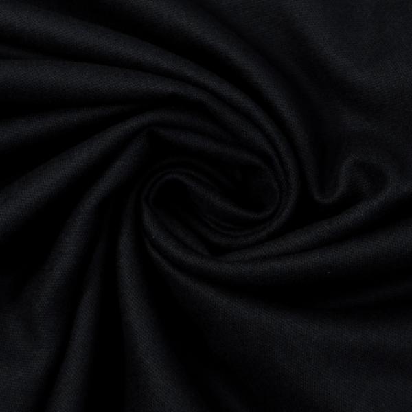 Flanell Baumwolle Uni schwarz