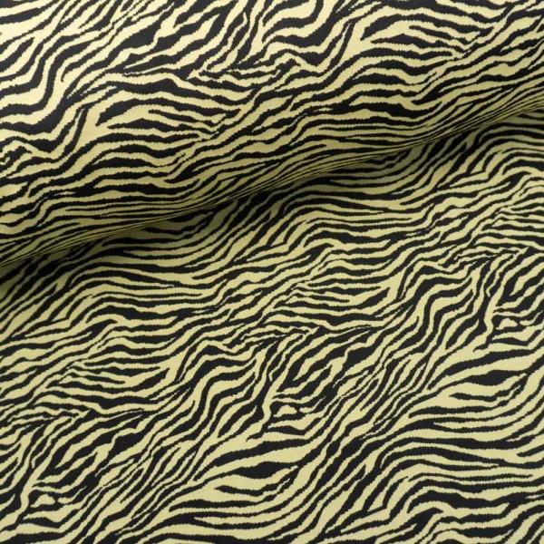 Jacquard Jersey Zebra schwarz-senf